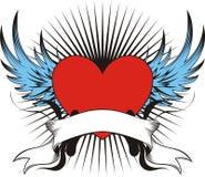 Gevleugelde liefdetatoegering Stock Afbeelding