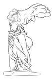 Gevleugelde overwinning van Samothrace Royalty-vrije Stock Afbeeldingen