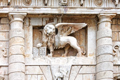 Gevleugelde St Mark Lion in Zadar, Kroatië Royalty-vrije Stock Afbeeldingen