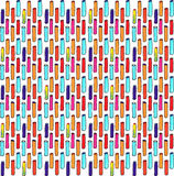 Gevoeld stokken kleurrijk naadloos patroon Royalty-vrije Stock Fotografie