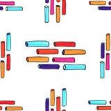 Gevoeld stokken kleurrijk naadloos patroon Royalty-vrije Stock Afbeelding