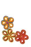 Gevoelde Bewerkte Bloemen Royalty-vrije Stock Afbeeldingen