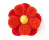 Gevoelde bloem royalty-vrije stock afbeelding