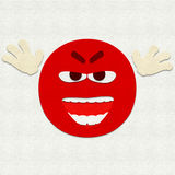 Gevoelde Emoticon die iemand doen schrikken Stock Afbeeldingen