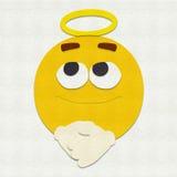 Gevoelde Emoticon-Engel Royalty-vrije Stock Afbeelding