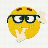 Gevoelde Emoticon Nerd Royalty-vrije Stock Foto