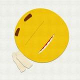 Gevoelde Emoticon-Slaap Royalty-vrije Stock Fotografie