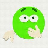 Gevoelde Emoticon-Zieken Stock Foto's