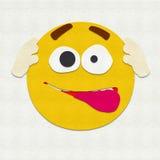 Gevoelde Gekke Emoticon Stock Foto's