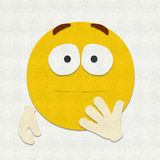 Gevoelde Geschokte Emoticon Stock Afbeelding