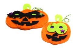 Gevoelde Jack o lantaarnstickers voor Halloween Royalty-vrije Stock Afbeeldingen