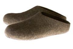 Gevoelde pantoffels Royalty-vrije Stock Afbeeldingen