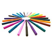 Gevoelde pennen stock afbeeldingen