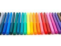 Gevoelde pennen stock afbeelding