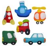 Gevoelde speelgoedvoertuigen Stock Afbeelding