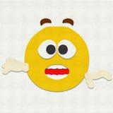 Gevoelde Verraste Emoticon Royalty-vrije Stock Foto's