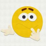 Gevoelde Verwarde Emoticon Stock Fotografie