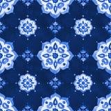 Gevoelig blauw filigraan openwork kantpatroon Stock Foto's