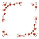 Gevoelig bloempatroon met rode papavers royalty-vrije illustratie