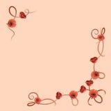 Gevoelig bloempatroon met rode papavers vector illustratie