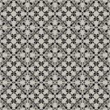 Gevoelig bloemrijk patroon op een grijze achtergrond Stock Fotografie