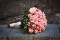Gevoelig bruids boeket royalty-vrije stock afbeelding