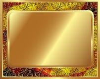 Gevoelig gouden kader met patroon 2 Stock Foto