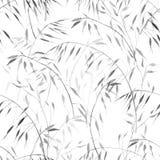 Gevoelig grijs waterverf botanisch patroon op witte achtergrond voor textiel en behangontwerpen stock illustratie