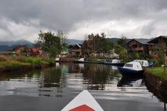 Gevoelig & kleurrijk laguna La Cocha, Colombia Royalty-vrije Stock Fotografie