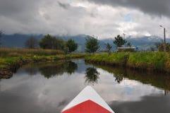Gevoelig & kleurrijk laguna La Cocha, Colombia Royalty-vrije Stock Foto's