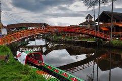 Gevoelig & kleurrijk laguna La Cocha, Colombia Stock Fotografie