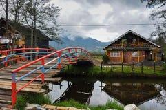 Gevoelig & kleurrijk laguna La Cocha, Colombia Stock Foto