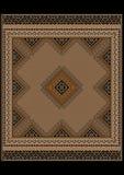 Gevoelig patroon van het tapijt in bruine en gele schaduwen Stock Afbeeldingen