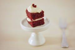 Gevoelig stuk van kleine chocoladecake Royalty-vrije Stock Foto's