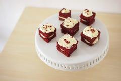 Gevoelig stuk van kleine chocoladecake Royalty-vrije Stock Fotografie