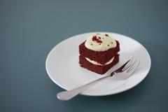Gevoelig stuk van kleine chocoladecake Stock Foto's