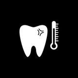 Gevoelig tand stevig pictogram royalty-vrije illustratie