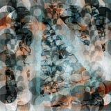 Gevoelige abstracte geometrische achtergrond gekleurde cirkels en lijnen Grungeeffect Vector illustratie stock illustratie
