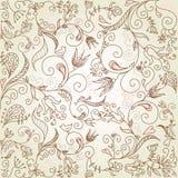 Gevoelige bloemenachtergrond Stock Illustratie