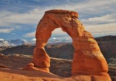 Gevoelige Boog, Bogen nationaal park, moab, Utah Royalty-vrije Stock Fotografie