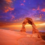 Gevoelige Boog van het bogen de Nationale Park in Utah de V.S. Royalty-vrije Stock Foto