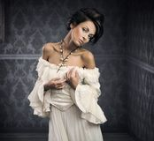 Gevoelige brunette royalty-vrije stock foto