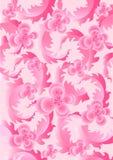 Gevoelige roze bloemen op lichtrose achtergrond Stock Foto