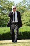 Gevoelloze Fbi Agent Walking royalty-vrije stock foto