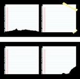 Gevoerd Document Stock Illustratie