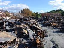 Gevolgen van brand Stock Foto's