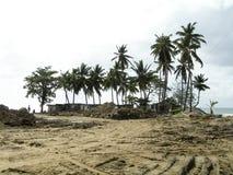 Gevolgen van orkaan Soufriere St. Lucia royalty-vrije stock foto