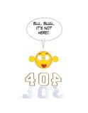 gevonden niet pagina 404 stock afbeelding