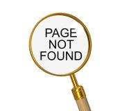 Gevonden niet pagina. 3d illustratie op het wit Royalty-vrije Stock Foto
