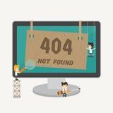 Gevonden niet pagina, fout 404 Royalty-vrije Stock Afbeeldingen